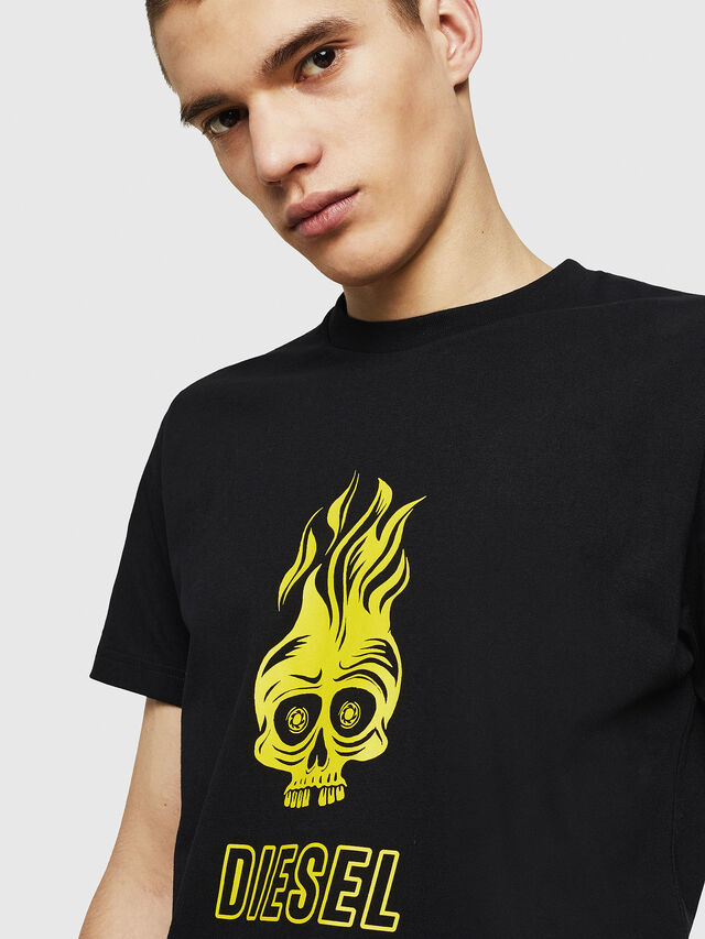 Diesel - T-DIEGO-A11, Black/Yellow - T-Shirts - Image 3