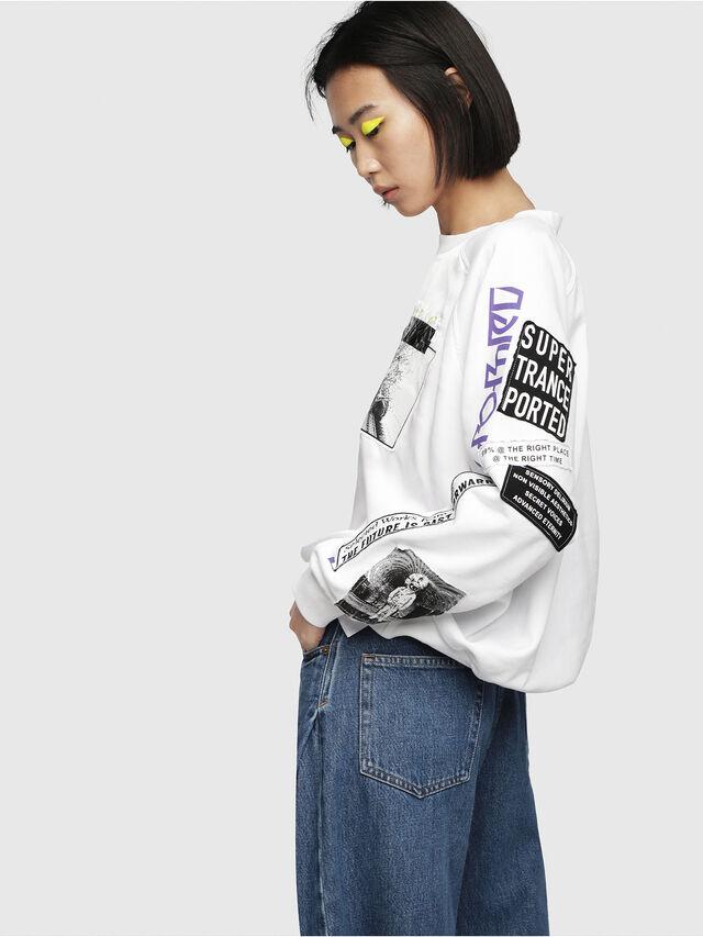 Diesel - F-JUSTY, White - Sweatshirts - Image 3
