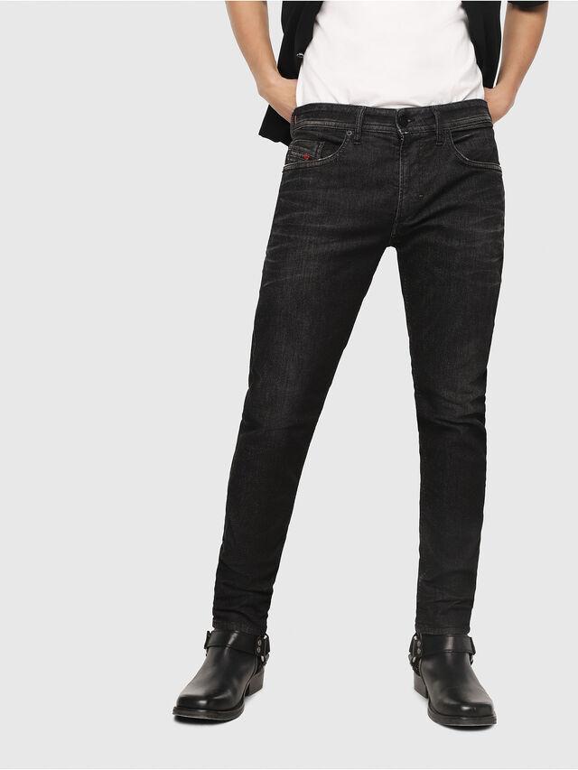 91d40db3 Diesel - Thommer JoggJeans 0077U, Black/Dark Grey - Jeans - Image 1