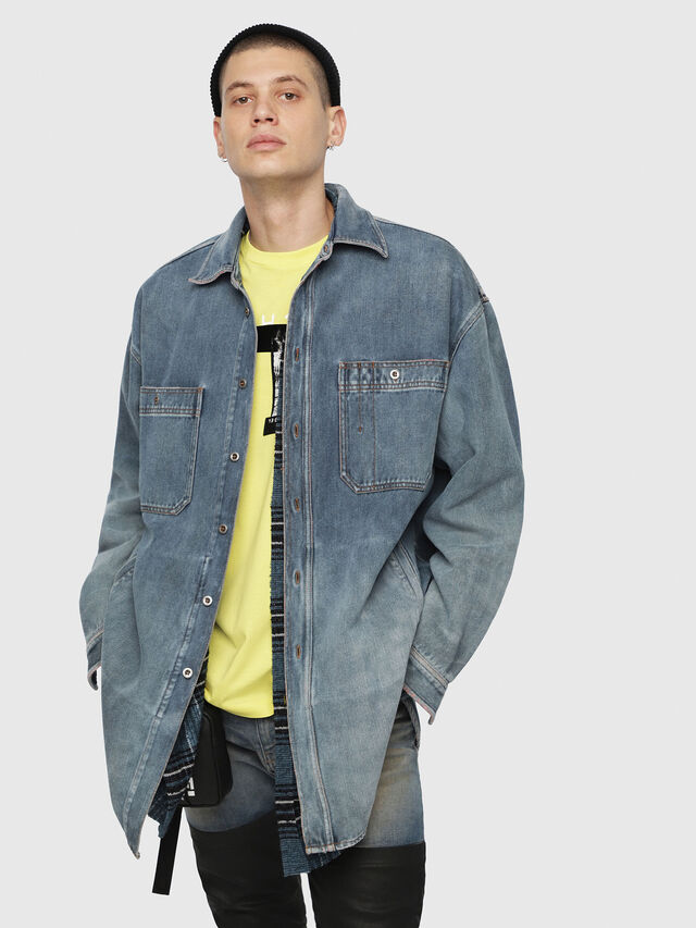 Diesel - D-LOREN, Blue Jeans - Denim Jackets - Image 1