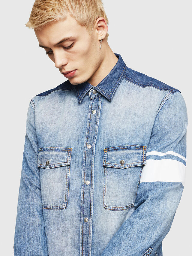 Diesel - D-MILLER, Blue Jeans - Denim Shirts - Image 3
