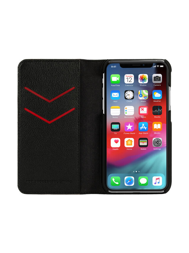 Diesel - DIESEL 2-IN-1 FOLIO CASE FOR IPHONE XS & IPHONE X, Black - Flip covers - Image 4