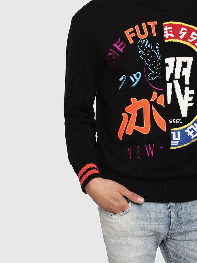 Diesel - K-FUT, Multicolor/Black - Sweaters - Image 3