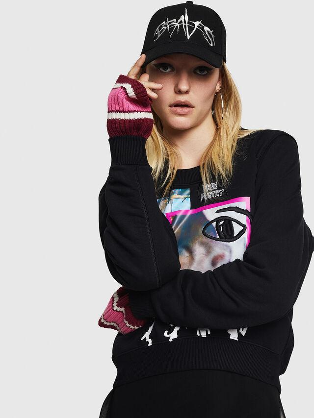 Diesel - F-LYANYDY-B, Black - Sweatshirts - Image 3