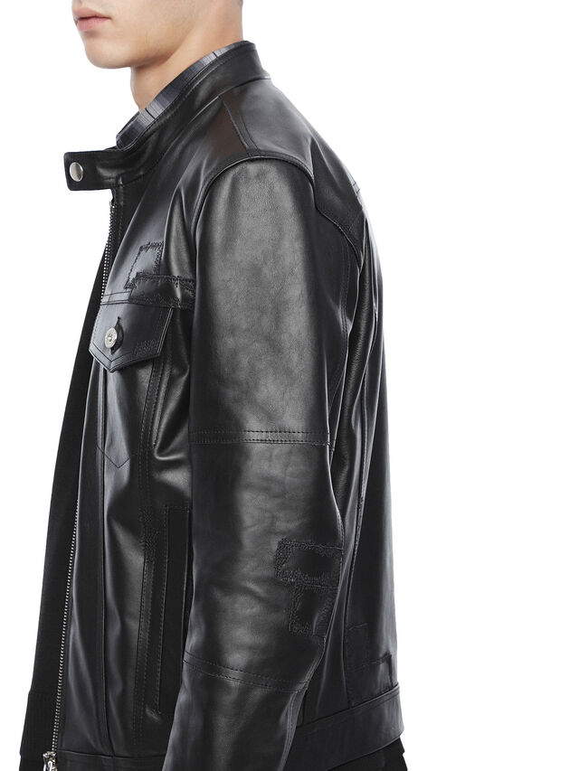 Diesel - LANPATCH, Black - Leather jackets - Image 6