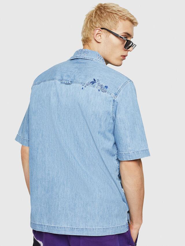 Diesel - D-RASHI, Jean Bleu - Chemises en Denim - Image 2