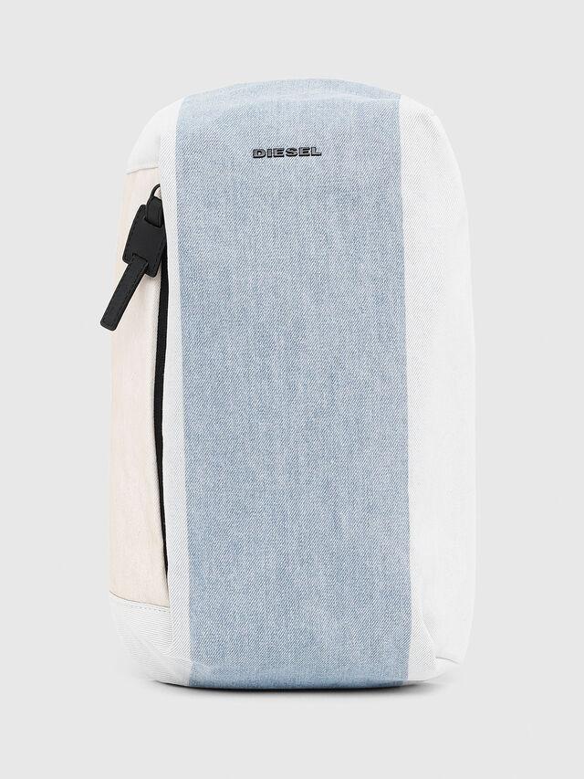 Diesel - D-SUBTORYAL MONO, White/Blue - Backpacks - Image 1