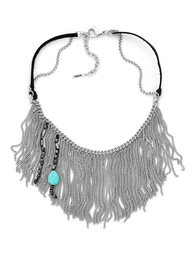 Diesel - NECKLACE DX0785, Gris argenté - Colliers - Image 1