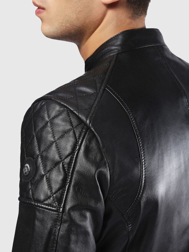 Diesel - L-MARTON, Black - Leather jackets - Image 5
