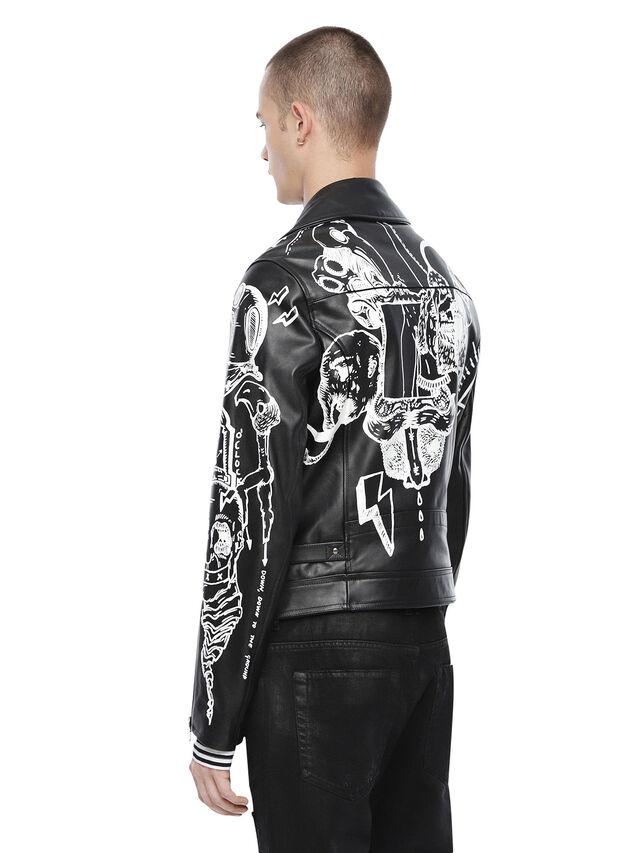 Diesel - LORAGRAPH, Black - Leather jackets - Image 2