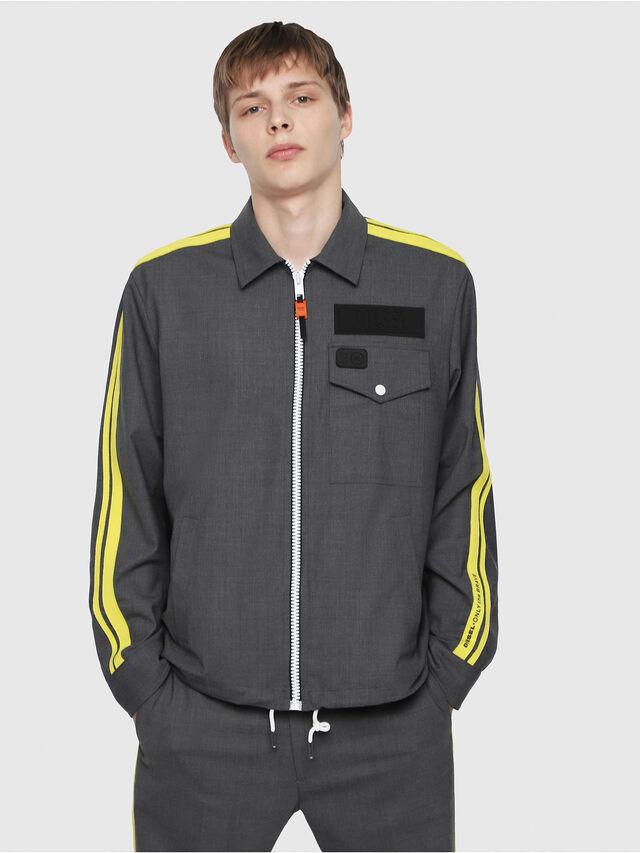 Diesel - J-KIRO, Dark Grey - Jackets - Image 1