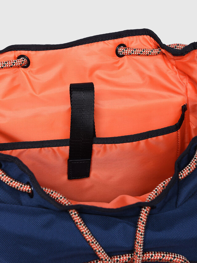 Diesel - M-CAGE BACK, Blue/Orange - Backpacks - Image 3