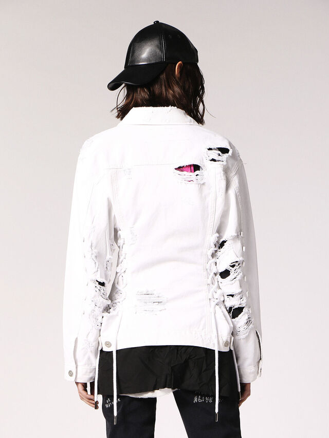 Diesel - DE-OCYD, White - Denim Jackets - Image 2