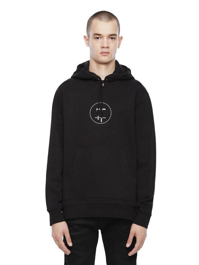 Diesel - SNEILBOOD-FACE, Black - Sweatshirts - Image 1