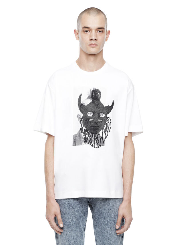 Diesel - TEORIAL-M5, White - T-Shirts - Image 1