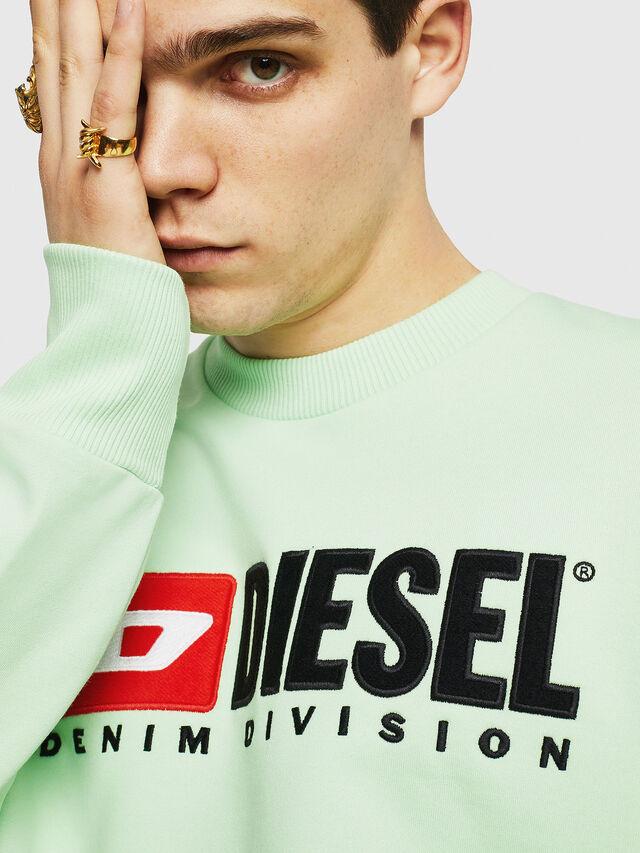 Diesel - S-CREW-DIVISION, Vert Fluo - Pull Cotton - Image 3