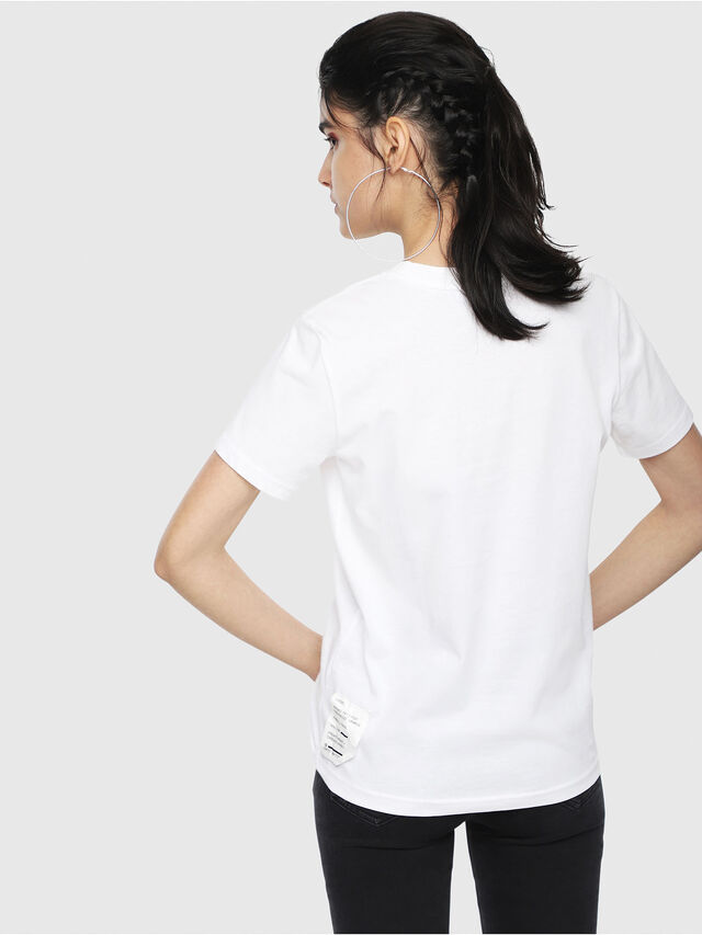 Diesel - T-SILY-WL, White - T-Shirts - Image 2