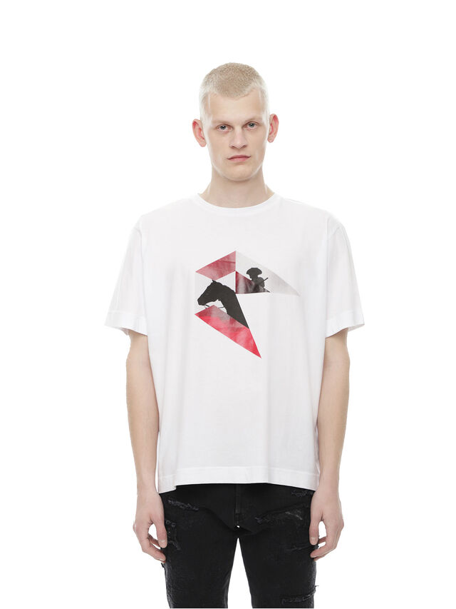 Diesel - TEORIAL-HUNTING, White - T-Shirts - Image 1