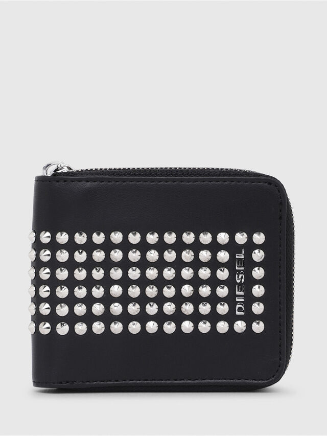 Diesel - ZIPPY HIRESH S, Black - Zip-Round Wallets - Image 1
