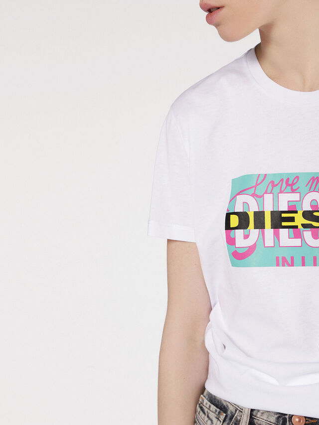 Diesel - T-LIGA, White - T-Shirts - Image 2