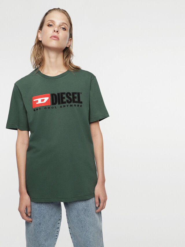 Diesel - HC-T-JUST-DIVISION, Bottle Green - T-Shirts - Image 4