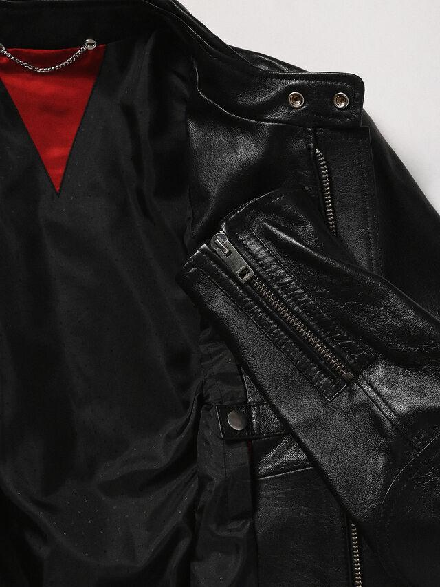 Diesel - L-RUSH, Black - Leather jackets - Image 8