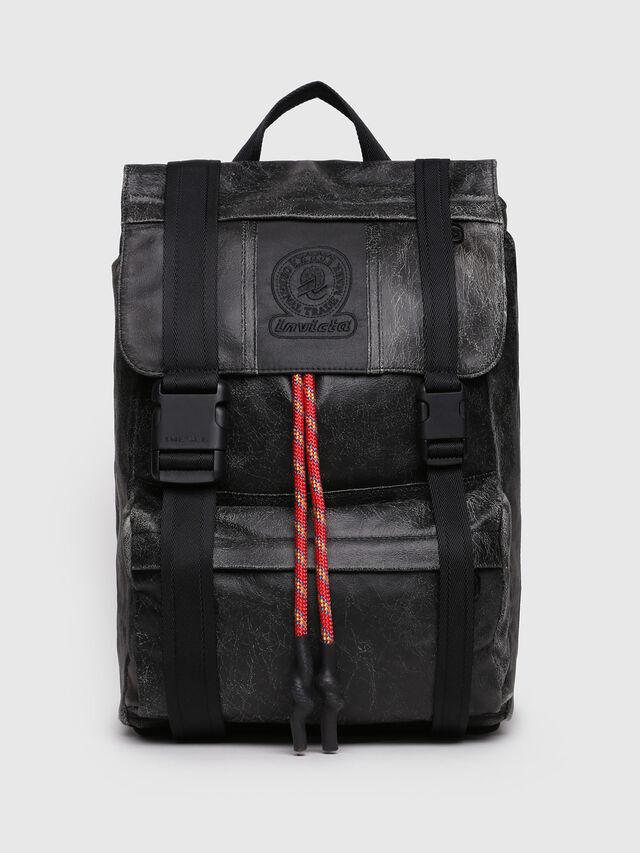 Diesel - M-INVICOLAB BACK IV, Black Leather - Backpacks - Image 1