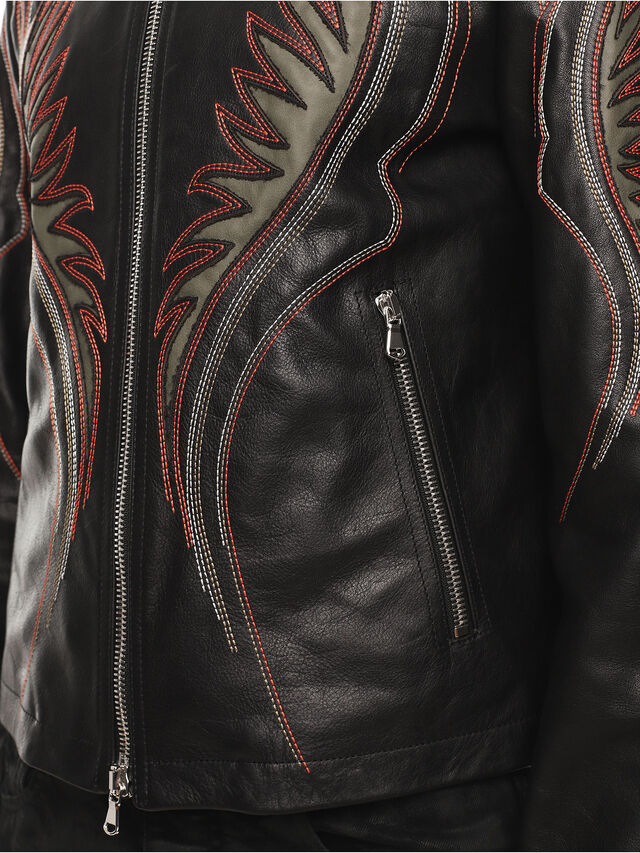 Diesel - LOLIQUE, Black - Leather jackets - Image 6