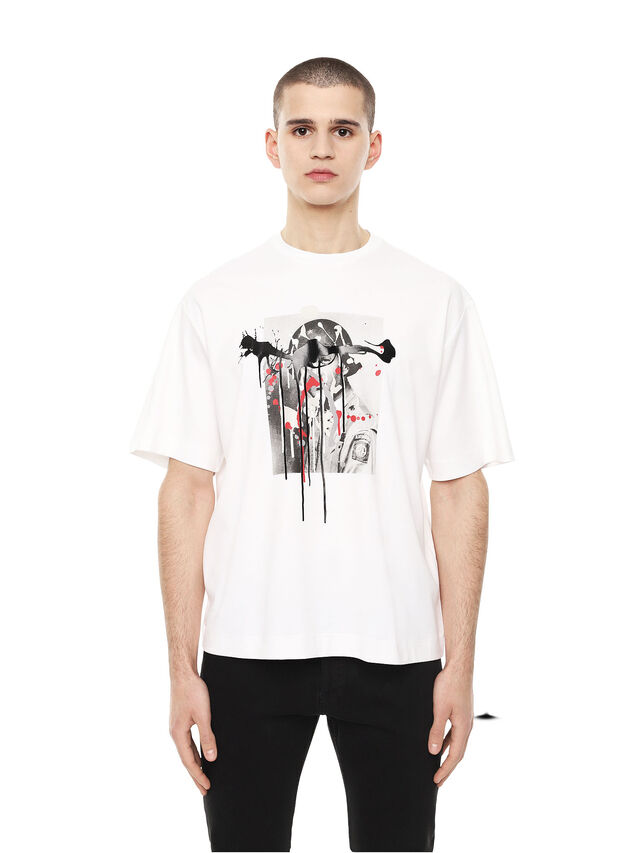 Diesel - TEORIA-MELTINGSOLDIE, White - T-Shirts - Image 1