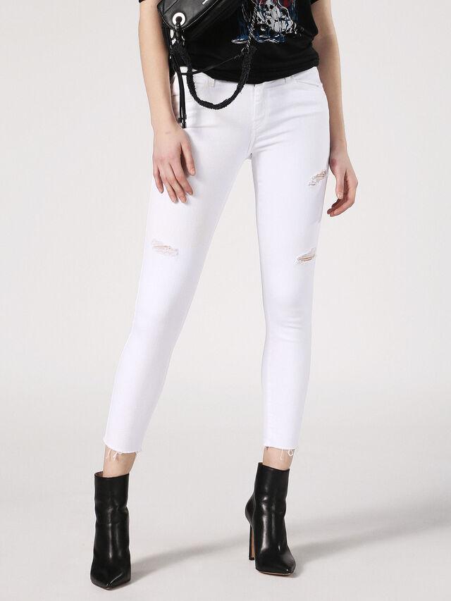 Diesel - Slandy 084EX, White Jeans - Jeans - Image 1