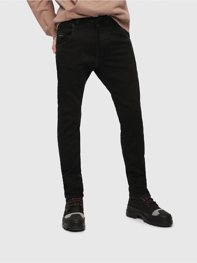 916026bf Diesel - Krooley JoggJeans 0687Z, Black/Dark Grey - Jeans - Image 1
