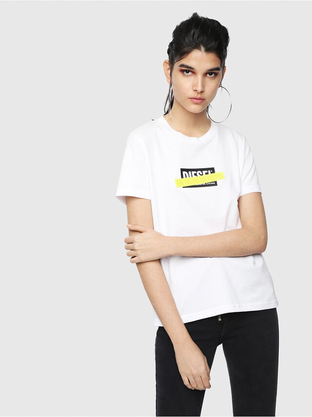 Diesel - T-SILY-WL, White - T-Shirts - Image 1
