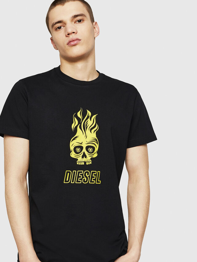 Diesel - T-DIEGO-A11, Black/Yellow - T-Shirts - Image 1