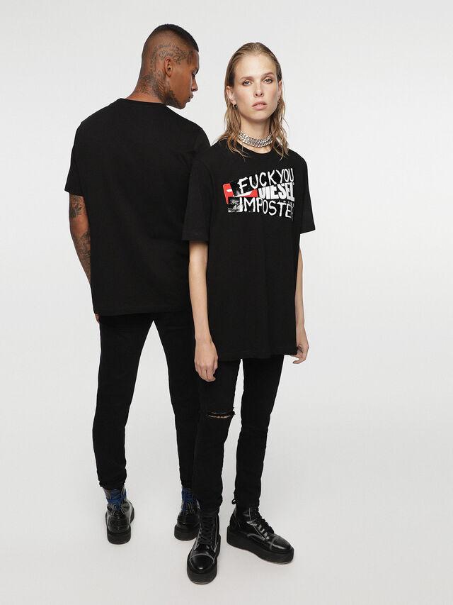 Diesel - HC-T-JUST-DIVISION-B, Black - T-Shirts - Image 1