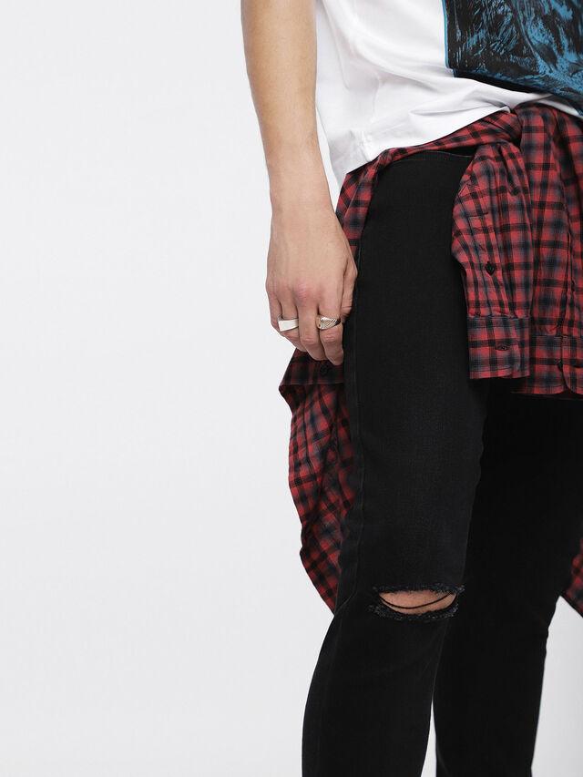Diesel - Sleenker 084ZN, Black/Dark Grey - Jeans - Image 4
