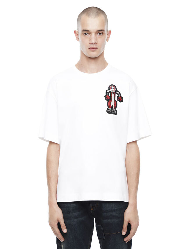 Diesel - TEORIAL-MAN, White - T-Shirts - Image 1
