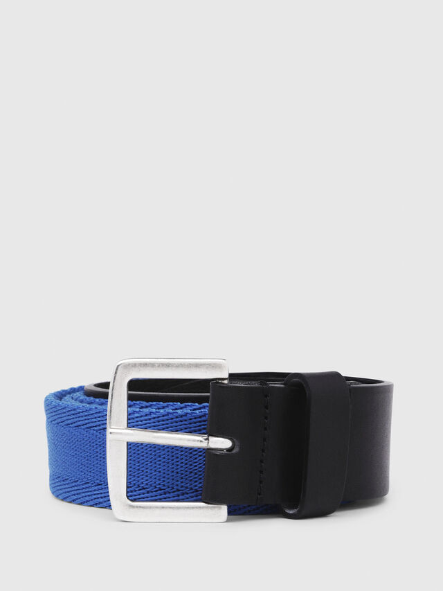 Diesel - B-BOSCO, Black/Blue - Belts - Image 1