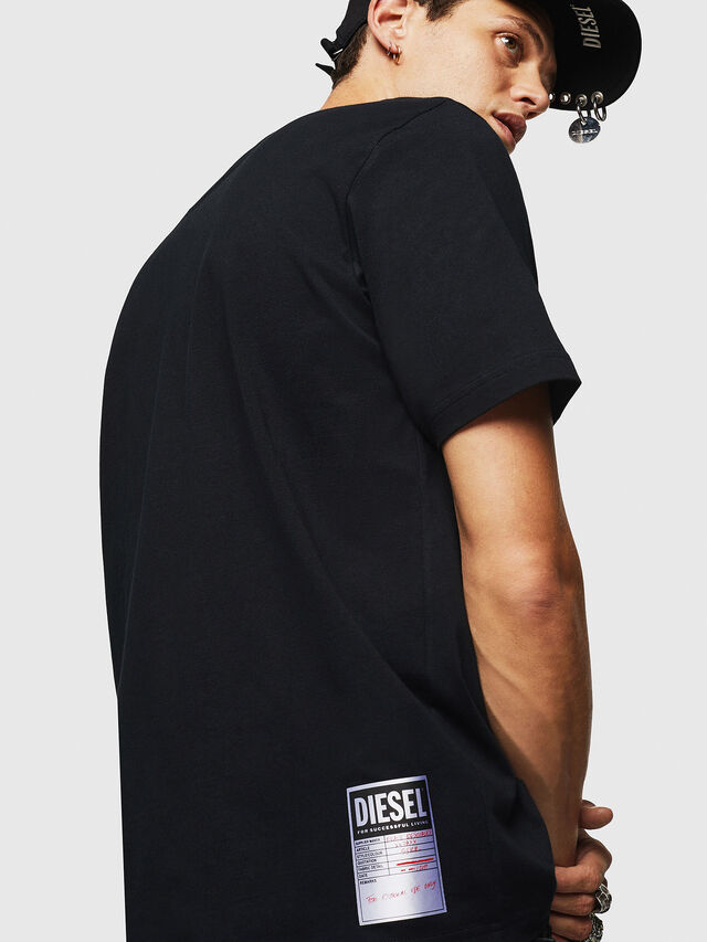 Diesel - T-JUST-B23, Black - T-Shirts - Image 6