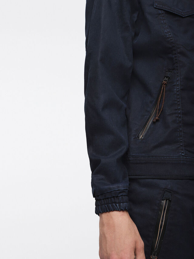 Diesel - MONSHI JOGGJEANS, Dark Blue - Denim Jackets - Image 6