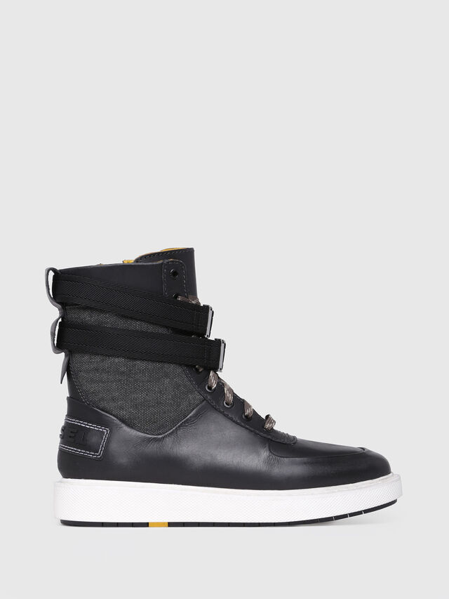 Diesel - H-CAGE HIGH ST, Black Leather - Boots - Image 1
