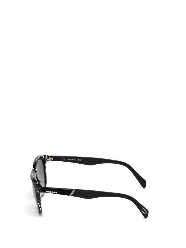 Diesel - DM0192, Black/White - Sunglasses - Image 3