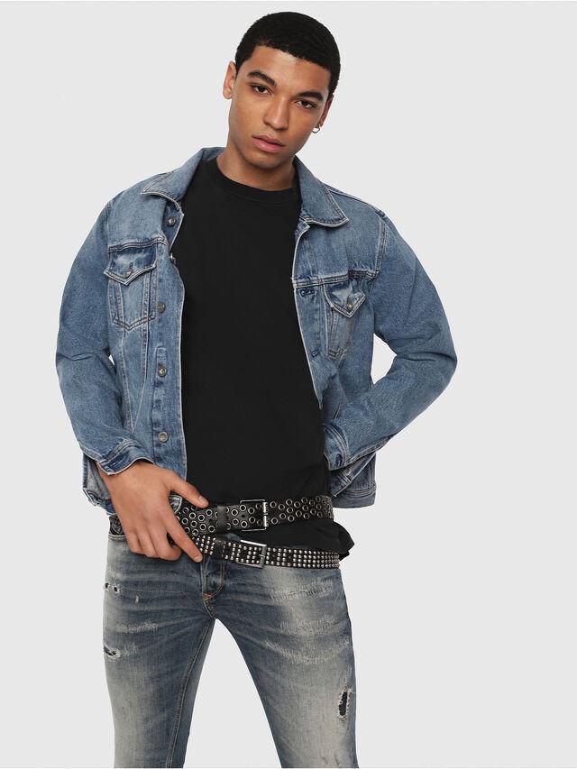 Diesel - Sleenker 069DK, Medium Blue - Jeans - Image 3