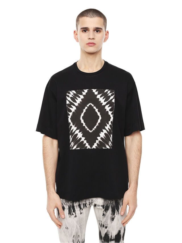 Diesel - TEORIA-TIEDYESQUARE, Black - T-Shirts - Image 1