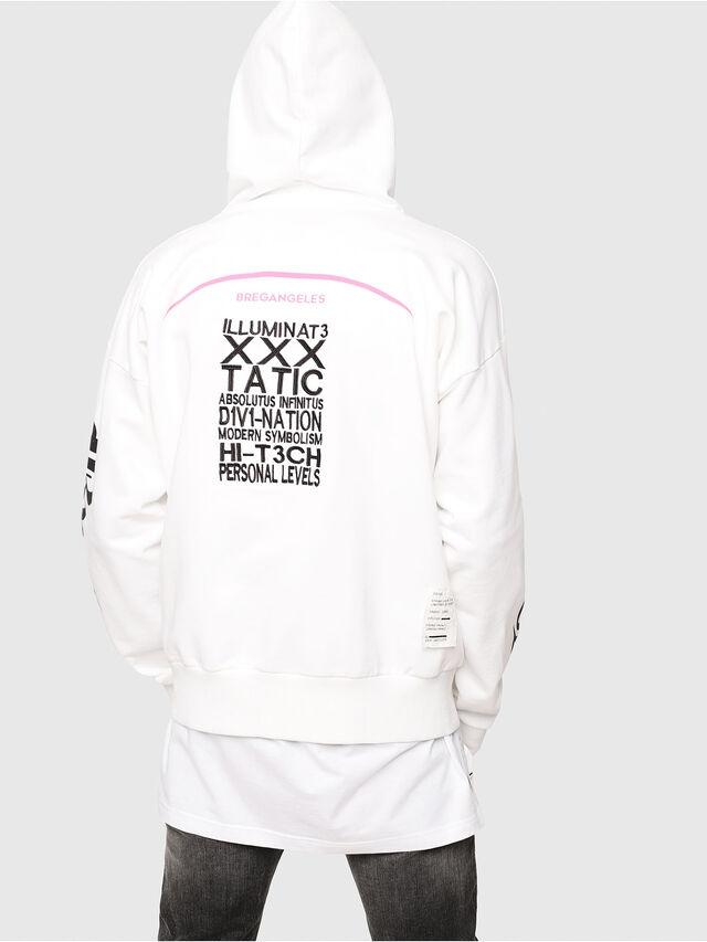 Diesel - S-ALBY-HOOD-Y2, White - Sweatshirts - Image 2