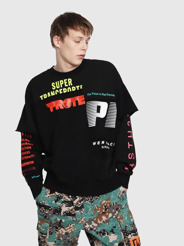 Diesel - S-TAKEO, Multicolor/Black - Sweatshirts - Image 1