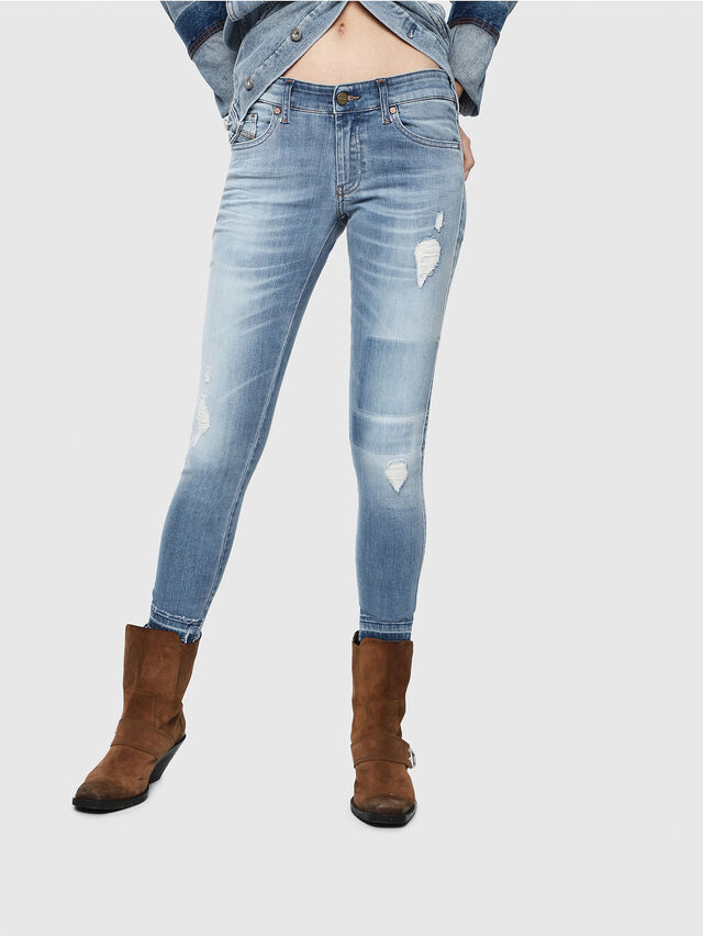 d25e7986 Back to Super skinny. Diesel - Slandy Low 086AH, Light Blue - Jeans - Image  1