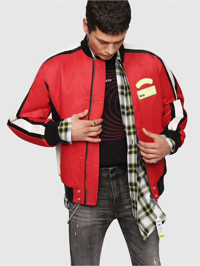 Diesel - J-RYUU, Red - Jackets - Image 1