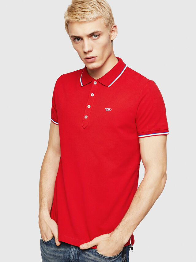 Diesel - T-RANDY-NEW, Fire Red - Polos - Image 1