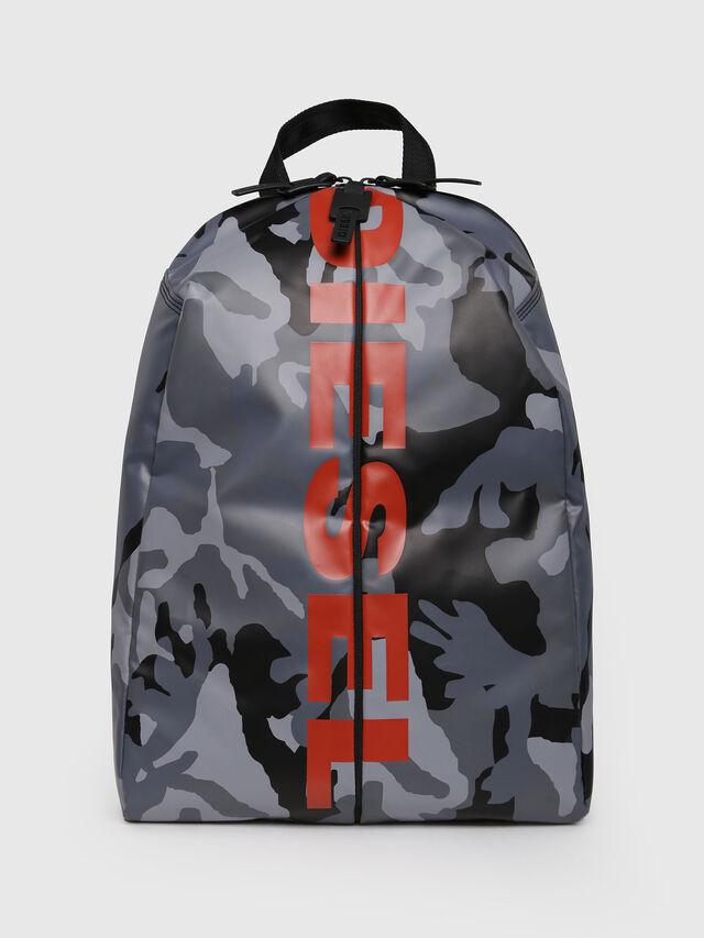 Diesel - F-BOLD BACK, Grey Melange - Backpacks - Image 1