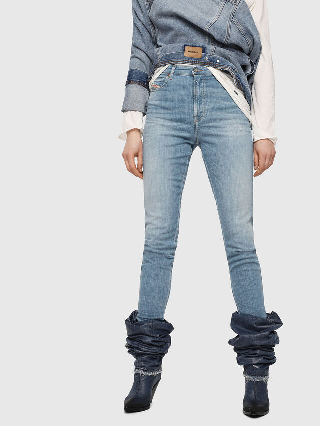 Diesel - Babhila High 081AF, Light Blue - Jeans - Image 1